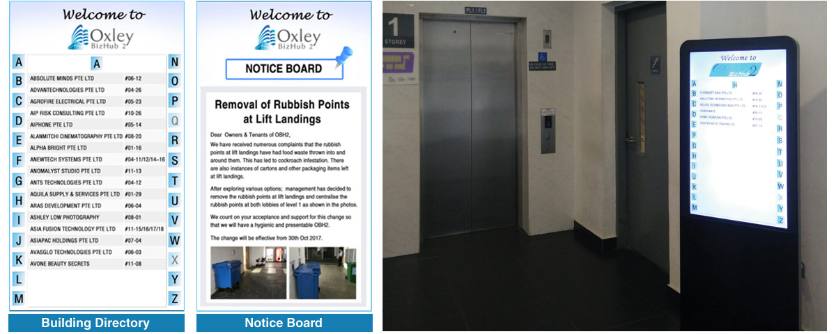 Anewtech-digital-signage-building-directory-notice-board